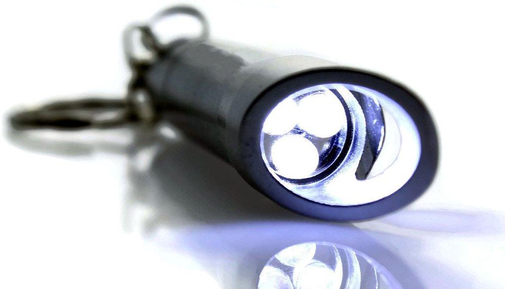 Au-Tomotive Gold Honda Civic LED Flashlight Silver Bottle Opener Key Chain INC