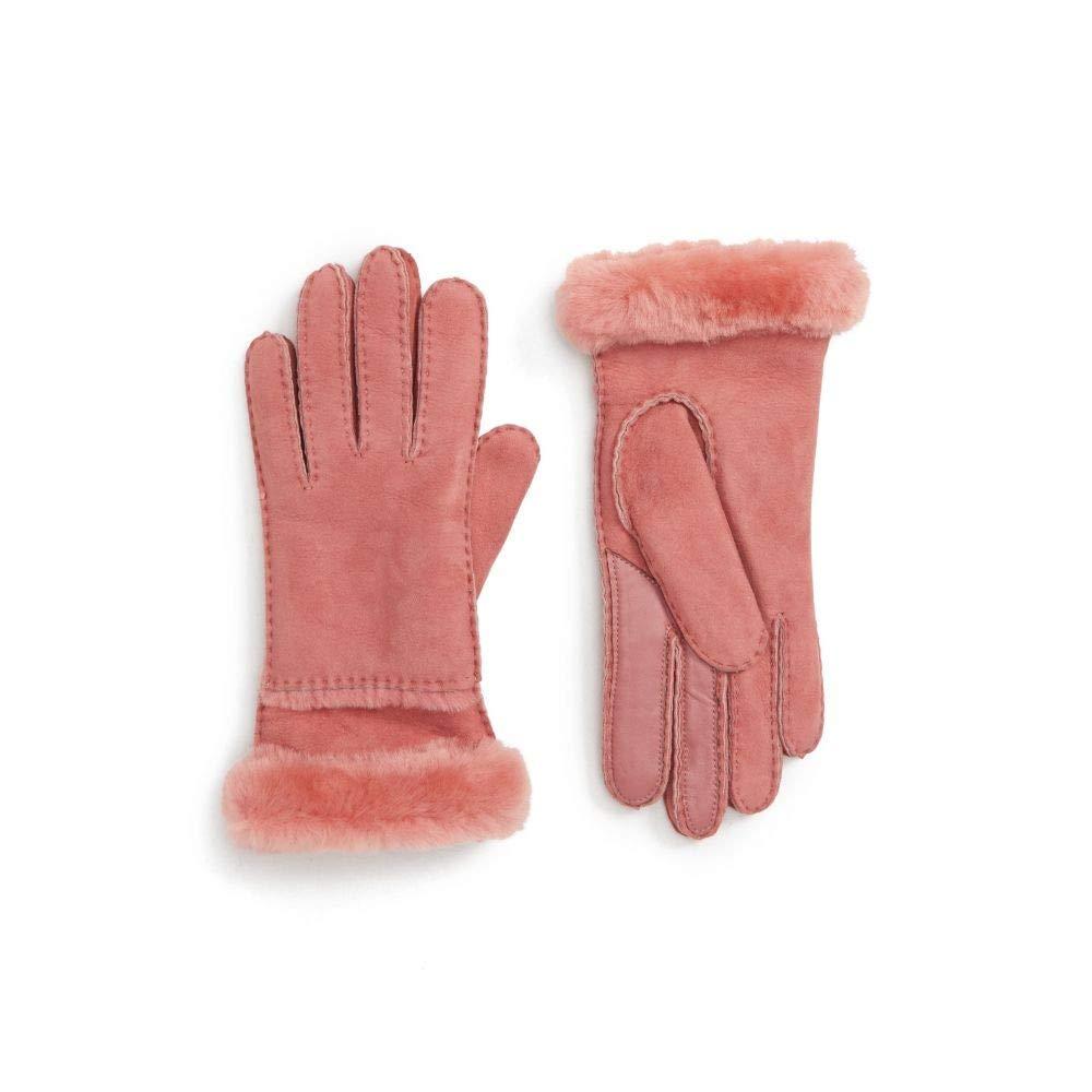 (アグ) UGG COLLECTION レディース 手袋グローブ UGG Seamed Touchscreen Compatible Gloves with Genuine Shearling Trim [並行輸入品] B07K6CCL3C L
