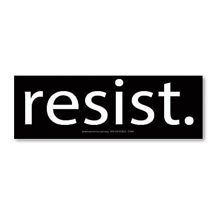 Resist anti trump protest mini sticker
