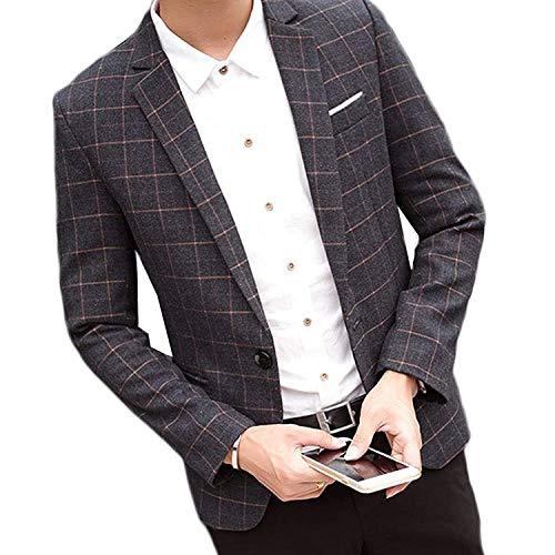Premium Casual Traje Slim Un Traje Chaqueta Botón Negro Los De Casual De De Hombres Fit Estilo Ropa Slim con Business Coat Jacket Fit Terciopelo Chaqueta EawnXWx57q