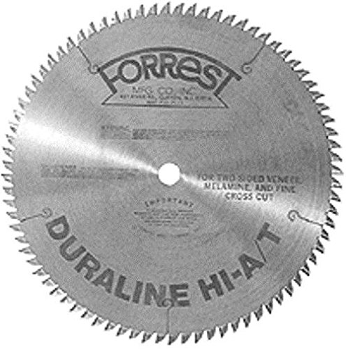 Forrest DH10807100 Duraline 10-Inch 80 Tooth HI-A/T Thin Kerf Melamine and Plywood Cutting Saw Blade with 5/8-Inch Arbor