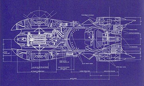 Blueprint - Batman 1989 Batmobile top view Fabric Cloth Rolled Wall Poster Print -- Size: (40