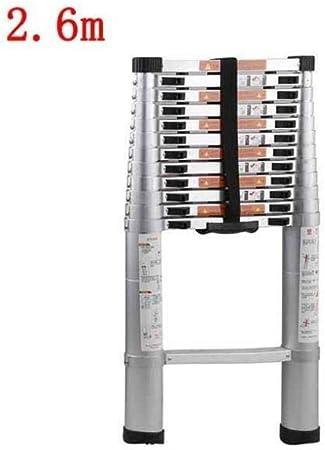 Yxsd Escalera Plegable 4M de extensión telescópica Escalera: Aluminio Portable Multiusos de la Escalera Plegable A-Frame for Ministerio Loft 150 Kg Capacidad de Carga (Size : 2.6m): Amazon.es: Hogar