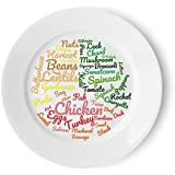 Niedrig Carb Healthy Eating Plate | Beautifully Designed Easy Sections to Follow a Low Carbohydrate/High Protein Diet | 10 Inch Meal Plate For Food Ideas & Portion Control for Sustainable Weight Loss
