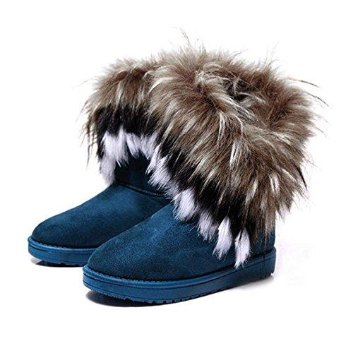 Cheville Boots Zeagoo Fourrure Chaudes Hiver Chaussures Neige Femme UOOTgP