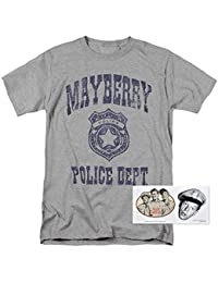 The Andy Griffith Show Mayberry Police Department T Shirt & Exclusive Stickers