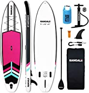 """RANGALii 11' Foot Inflatable SUP Stand Up Paddle Board(32"""" Wide, 6"""" Thick) Durable with Adjustab"""