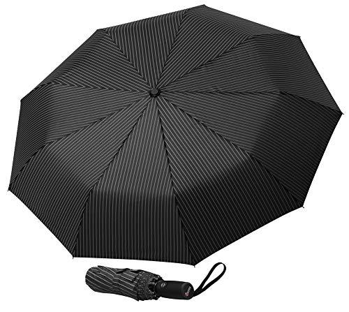 Repel Windproof Travel Umbrella with Teflon Coating (Pin Stripe)