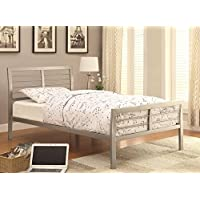 Coaster 300201T-CO Stoney Creek Casual Twin Iron Bed, Silver Metal Finish