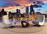 Photo Wall Mural Chicago Skyline Wall Art Decor Photo Wallpaper Poster Print
