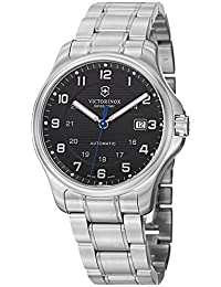 Swiss Army V241671.1 Men's Black Dial and Stainless Steel Watch with Knife