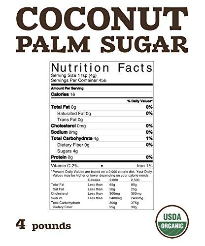 Organic Merchants Organic Coconut Palm Sugar - 4lb Bag - Kosher, Non Gmo,  Gluten Free