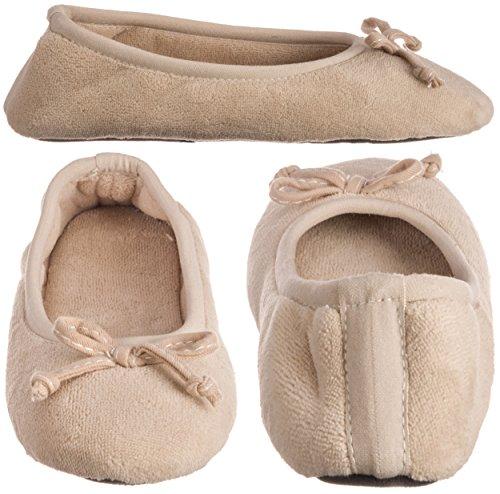 Ballerina Sand Microterry Trap ISOTONER Womens Ada 8F6wwA