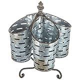 metal kitchen utencils - Rustic Olive Bucket Rotating Utensil Caddy Kitchen Home Office Desk