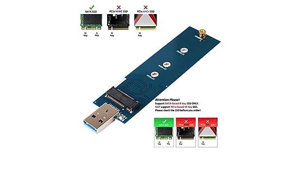 Teabelle Adaptador M.2 a USB, Llave B M.2 Adaptador SSD USB 3.0 ...