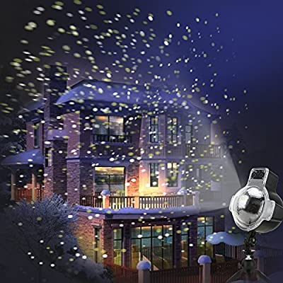2017 Led Snowfall Projector Light Snowflake Landscape Projection Lamp with Timer Remote Control for Christmas Halloween Holiday Party