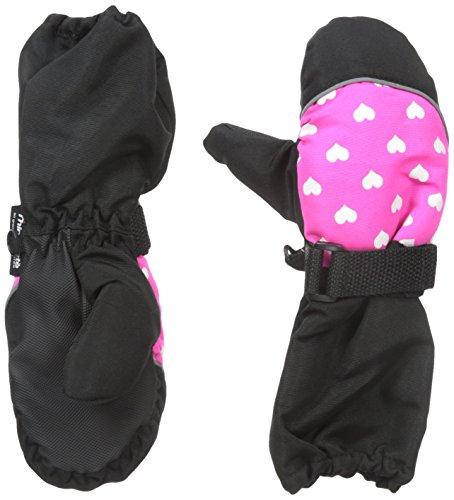 Nolan Gloves Big Girls' Chloe Heart Ski Mitten with Long Cuff, Pink, 2-4T