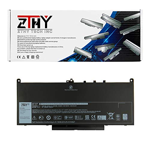 ZTHY Compatible J60J5 Laptop Battery Replacement for Dell Latitude E7270 E7470 Series Notebook R1V85 451-BBSX 451-BBSY 451-BBSU MC34Y 242WD 7.6V 55WH ()
