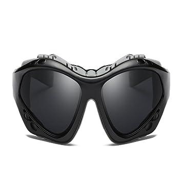 1aaf16e74d LUIHUIYUAN Al Aire Libre Deportes Espejo Colorido Viento Arena Alpinismo  Gafas De Sol Polarizadas,Black: Amazon.es: Deportes y aire libre