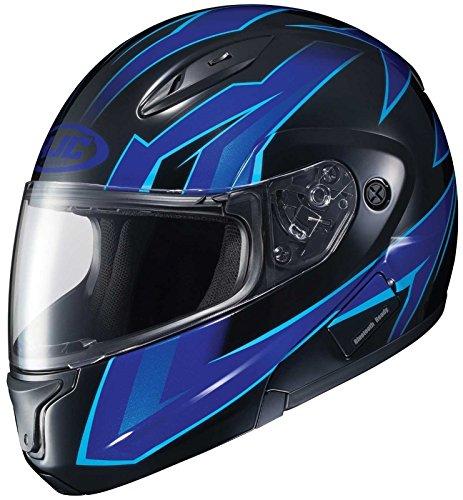 HJC CL-Max2 Ridge Modular/Flip Up Motorcycle Helmet (Blue/Black, Medium)