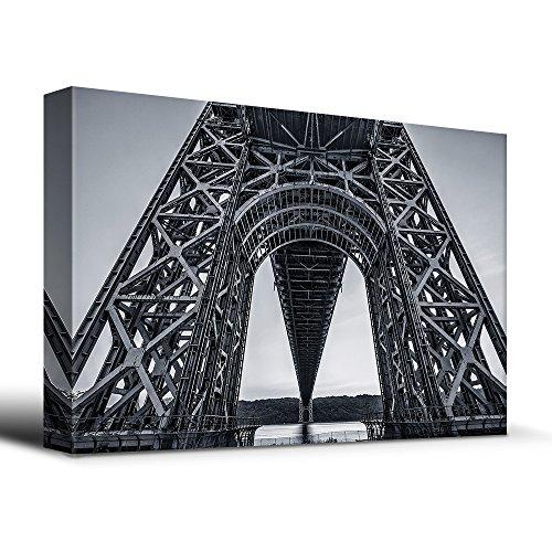 Stark black and white geometric bridge architecture