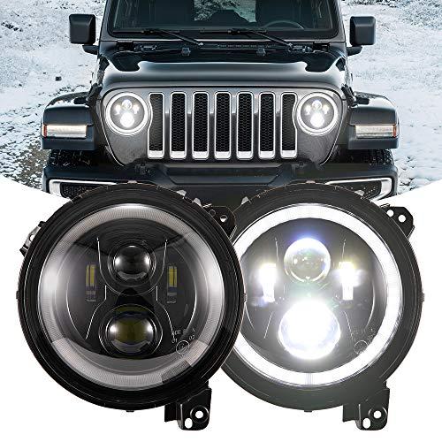 BUNKER INDUST Wrangler JL LED Headlights, 1 Pair 9