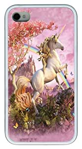 Awesome Unicorn TPU Silicone Case Cover for iPhone 4/4S White