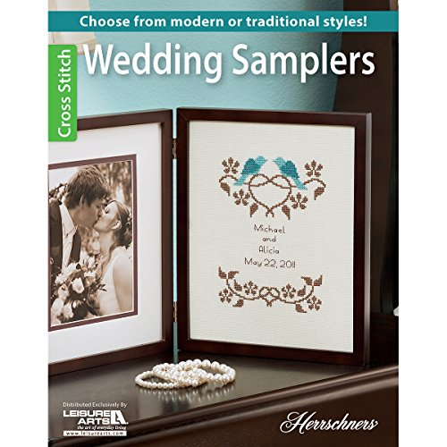 (Wedding Samplers: Choose from modern or traditional cross stitch styles)