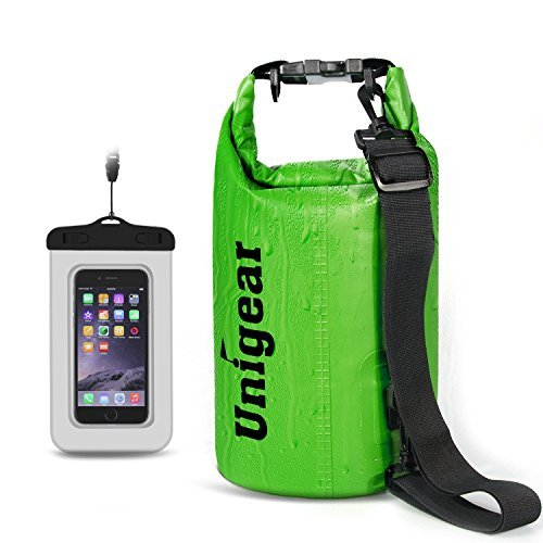 Unigear Dry Bag Sack, Waterproof Floating Dry Gear Bags for Boating, Kayaking, Fishing, Rafting, Swimming, Camping and Snowboarding (Green, 20L) -