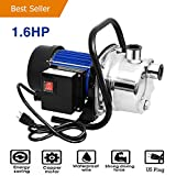 Homdox 1.6HP Booster Pump Stainless Lawn Sprinkling Pump for Home Garden Irrigation Water Supply