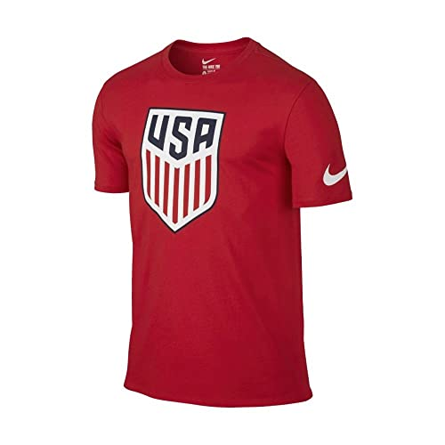 Seis Extremadamente importante esqueleto  Nike Boys' Nike USA Football Tee [University RED] (M): Amazon.in: Shoes &  Handbags