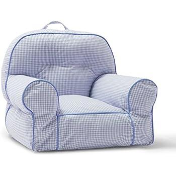 Big Joe Junior Chair, Blue Gingham
