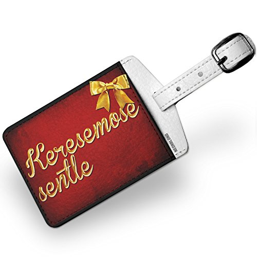 Luggage Tag Merry Christmas in Tswana from Botswana, South Africa - NEONBLOND by NEONBLOND