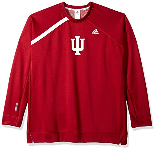 adidas NCAA Indiana Hoosiers Mens On Court L/S Shooting Shirton Court L/S Shooting Shirt, Victory Red, X-Large Court Shooting Long Sleeve