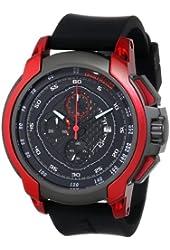 Ritmo Mundo Unisex 1001/4 Red Quantum Sport Quartz Chronograph Carbon Fiber and Aluminum Accents Watch