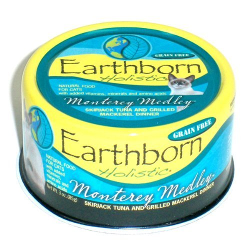 Earthborn Holistic Monterey Medley Skipjack Tuna and Grilled Mackerel Dinner Wet Cat Food, 3-Ounce Per Pacakge, 24-Pack by Earthborn Holistic
