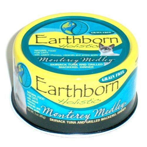 Monterey Medley Skipjack Tuna (Earthborn Holistic Monterey Medley Skipjack Tuna and Grilled Mackerel Dinner Wet Cat Food, 3-Ounce Per Pacakge, by Earthborn)