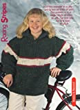 Racing Stripes - Knitting Pattern for Teen or Adult Pullover Sweater.