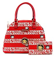 Betty Boop Premium Large Handbag and Matching Wallet Set