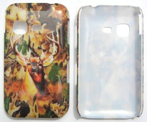 LF Deer Designer Hard Back Cover, Lf Stylus Pen and Wiper For MetroPCS Samsung Freeform M T189N & Tracfone StraightTalk Net 10 Samsung S390G -