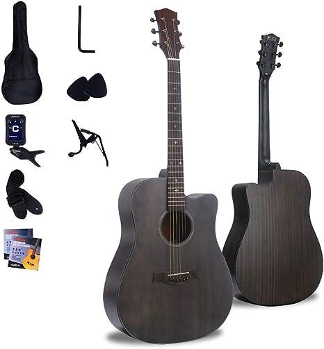 Boll-ATur 41 pulgadas guitarra acústica - madera sólida acústica ...