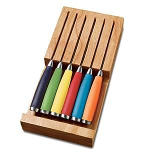 Drawer Block Knife Set (Set of 6) Color: Multicolor
