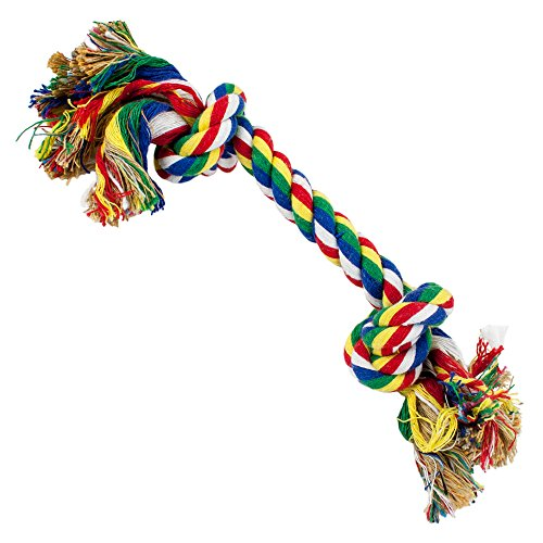 Weebo Pets Cotton Flossin' Rope Bone Dog Toy ()