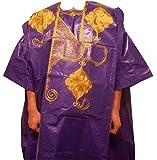 DecoraApparel African Grand bou bou Bubu pant set Men's Dashiki 4 Piece Cotton Suit Solid Colors