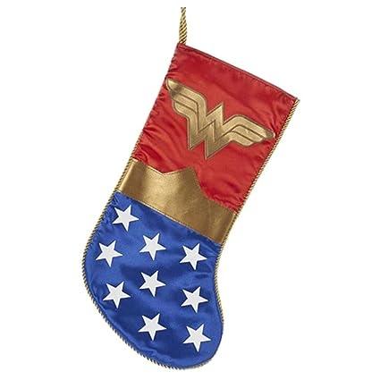 amazon com kurt adler wonder woman logo applique christmas stocking