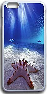 Dseason Iphone 6 plus(5.5) Case,Fashion printing series,High quality hard plastic material The starfish in the ocean
