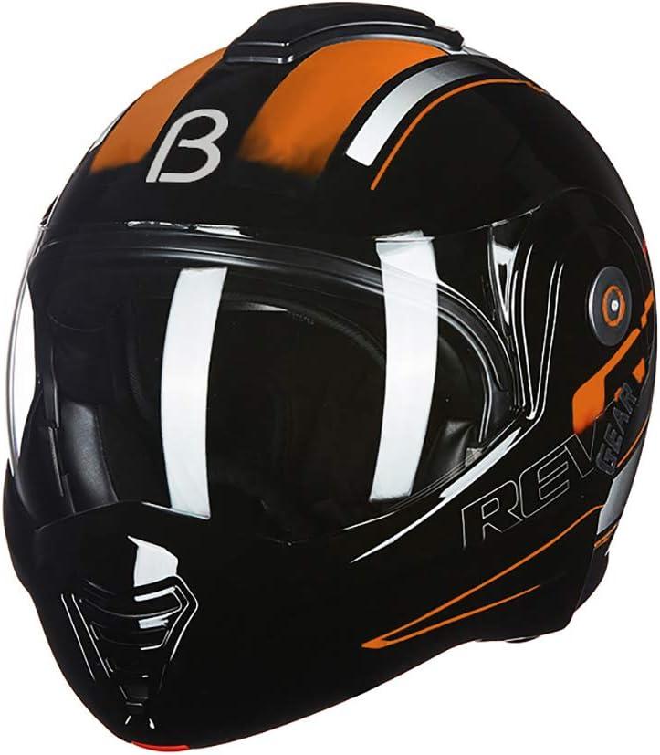 ハード帽子オートバイヘルメット、男性と女性フルカバーオープンフェイスヘルメットパーソナリティクールフルフェイスヘルメットオートバイヘルメット,B B