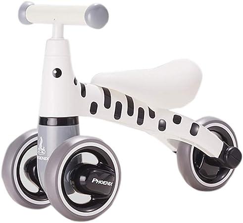 Bicicleta sin pedales Bici Equilibrar la Bicicleta para un niño de 1 año - 3 Ruedas No pedalear Bicicletas, Primer Regalo de cumpleaños Infantil (Color : Blanco): Amazon.es: Hogar