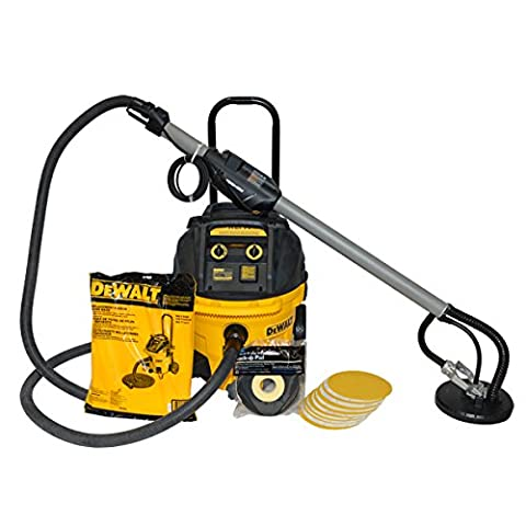 Porter Cable 7800 Dustless Drywall Sander with DeWalt HEPA Dust Collection Vacuum - Pro Contractor (Dust Free Drywall Sander)