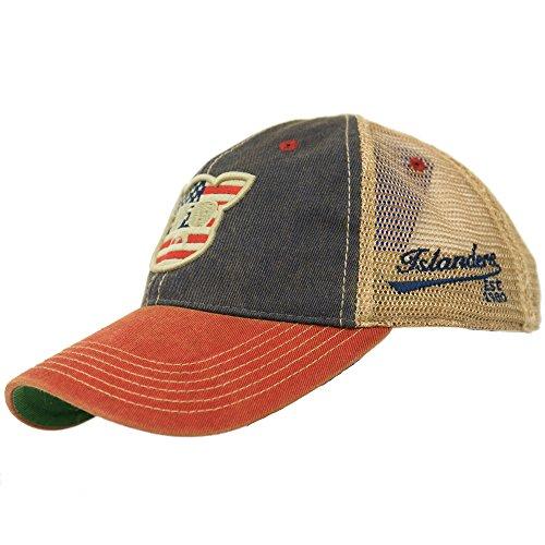Islanders Pig Face Old Favorite Trucker Hat, American Flag, OS (American Trucker Hat)
